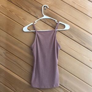 NWT! Rue 21 Pink High Neck Ribbed Tank